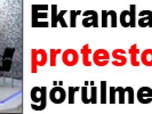 Ekranda böyle protesto görülmedi!