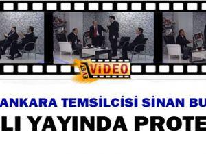 Konukları Sinan Burhan'ı Canlı Yayında Protesto Etti-Video