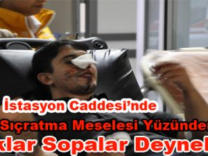 KAYSERİ'DE MAGANDA DEHŞETİ BIÇAKLAR SOPALAR..