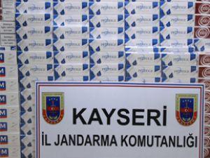 KAYSERİ JANDARMA KAÇAK SİGARA OPERASYONU