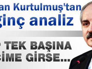 Numan Kurtulmuş: CHP Tek Parti Olarak Seçimlere Girse Bile...