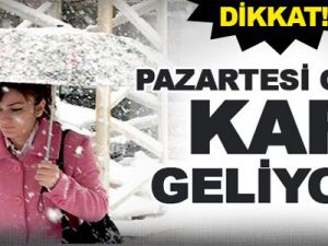 Meteoroloji'den Pazartesi Günü İçin Kar Uyarısı!