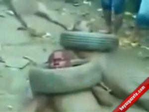 Nijerya'da 4 Kişi Böyle Yakıldı