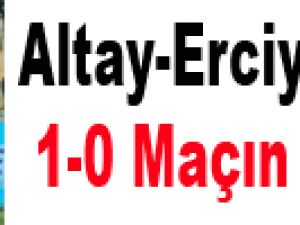 Altay - Kayseri Erciyesspor: 1-0 Maçın Özeti