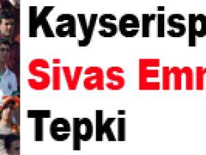 Kayserispor'dan Sivas Emniyetine Tepki