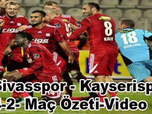 Sivasspor - Kayserispor 4-2 Maç Özeti-Video