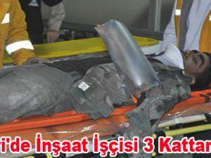 Kayseri'de İnşaat İşçisi 3. Kattan Düştü