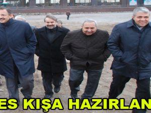 ERİYES KIŞA HAZIRLANIYOR