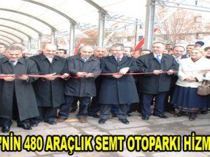 MELİKGAZİ'NİN 480 ARAÇLIK SEMT OTOPARKI HİZMETE AÇILDI