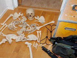 Kemiklerle ilişkiye girdi