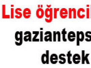 Lise Öğrencilerinden Gaziantepspor'a Moral Ziyareti