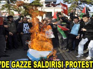 KAYSERİ'DE GAZZE SALDIRISI PROTESTO EDİLDİ