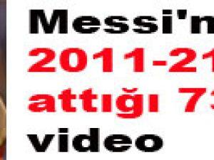 Messi'nin 2011-212'de attığı 73 gol-video