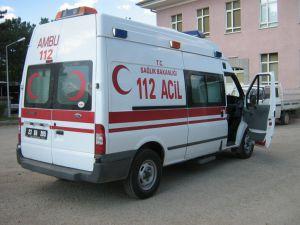 KAYSERİ'DE 112 AMBULANSINA SALDIRDI