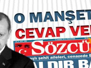 Başbakan Tayyip Erdoğan'dan Sözcü'ye cevap geldi