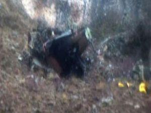 Düşen helikopterin ilk görüntüsü-video