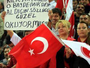 mhp kongresi'nde kılıçdaroğlu'na  gönderme