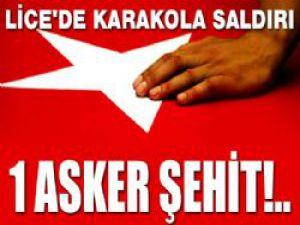 Diyarbakır'ın Lice İlçesindeki Saldırıda 1 Asker Şehit Oldu