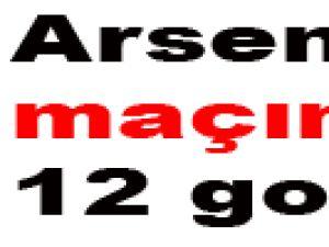 İnanılmaz arsenal maçında 12 gol-video