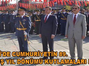 KAYSERİ'DE CUMHURİYETİN 89. KURULUŞ YIL DÖNÜMÜ KUTLAMALARI BAŞLADI