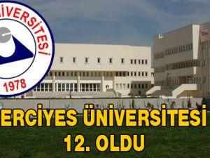 Erciyes Üniversitesi 12. Oldu