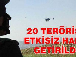 Kazan Vadisi'nde 20 terörist öldürüldü