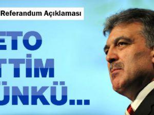 Cumhurbaşkanı Gül'den Veto Açıklaması