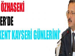 BAŞKAN ÖZHASEKİ TRT HABER'DE 'KADİM KENT KAYSERİ GÜNLERİNİ' TANITTI