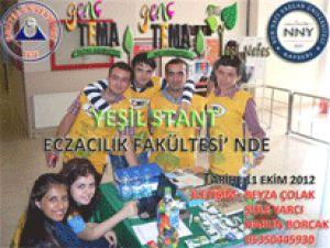 Erciyes üniversitesi Eczacılık Fakültesi Yeşile Boyandı