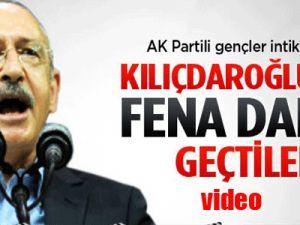 AK Parti'li gençler Kılıçdaroğlu'nun 'ti'ye aldı-video