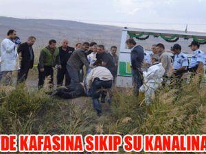 KAYSERİ'DE KAFASINA SIKIP SU KANALINA ATTILAR