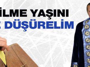 Tayyip Erdoğan'dan seçilme yaşı 18'e düşsün çağrısı