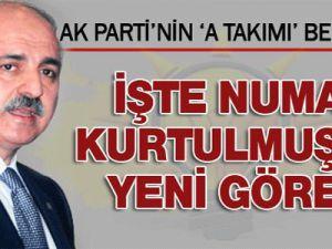 AK Parti'nin yeni A Takımı belli olduNuman Kurtulmuş Ekonomiden Sorumlu Genel Başkan Yardımcılığı'na getirildi