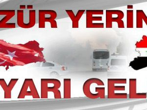 Suriye'den Türkiye'ye sınır uyarısı