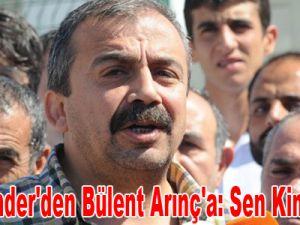 BDP'li Önder'den Bülent Arınç'a: Sen kimsin lan!