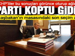 Başbakan Erdoğan'ın masasındaki son anket