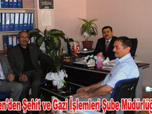 Eğitim-Bir-Sen'den Şehit ve Gazi İşlemleri Şube Müdürlüğü'ne Ziyaret