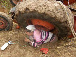 Pınarbaşı'nda traktör kazası