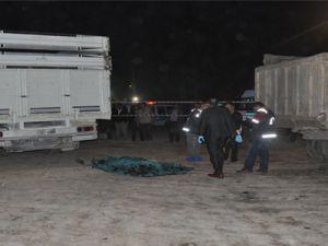 Kayseri Şeker'de Kamyon şöförünün feci ölümü