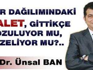 Prof. Dr. Ünsal BAN 'Gelir Dağılımında Adalet'e Değindi