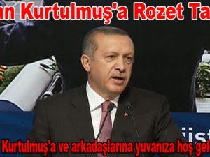 Erdoğan Kurtulmuş'a rozet takacak