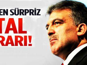 Cumhurbaşkanı Gül'den sürpriz iptal