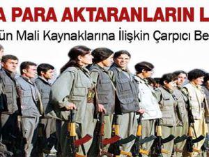 İşte terör örgütü PKK'ya destek verenlerin listesi