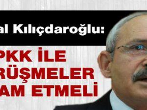 Kemal Kılıçdaroğlu: Silah bıraktıracaksa görüşmeler sürmeli