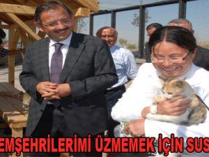 """""""CHP'Lİ HEMŞEHRİLERİMİ ÜZMEMEK İÇİN SUSUYORUM"""""""