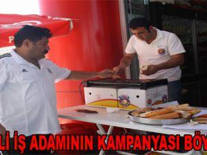 KAYSERİLİ İŞ ADAMININ KAMPANYASI BÖYLE OLUR