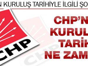 CHP'nin kuruluş tarihi ile ilgili ilginç iddia