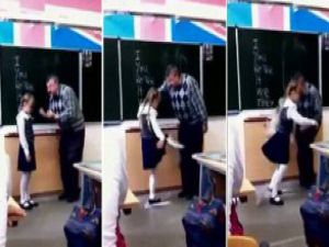 Kız öğrenciden öğretmene tekme-video