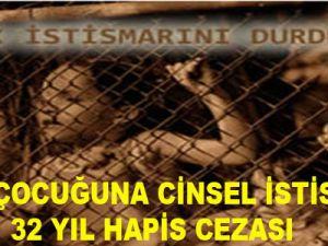 KAYSERİ'DE 4 KIZ ÇOCUĞUNA CİNSEL İSTİSMARA 32 YIL HAPİS CEZASI
