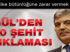 Abdullah Gül'den Şırnak'taki 10 şehitle ilgili açıklama